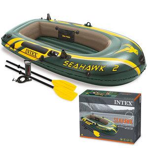 Лодка надувная 2-местная INTEX SeaHawk 2 Set 68347