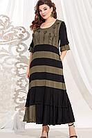 Женское летнее из вискозы нарядное большого размера платье Vittoria Queen 13653 50р.