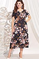 Женское летнее нарядное большого размера платье Vittoria Queen 13673 54р.