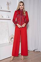 Женский осенний замшевый красный деловой нарядный деловой костюм Urs 21-557-2 42р.
