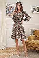 Женское осеннее шифоновое платье Fantazia Mod 3920 44р.