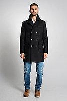 Мужское осеннее драповое черное пальто Gotti 063-1у 48р.