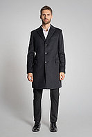 Мужское осеннее драповое серое большого размера пальто Gotti 060-5у 52р.