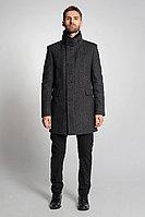 Мужское осеннее драповое серое большого размера пальто Gotti 059-3м 46р.