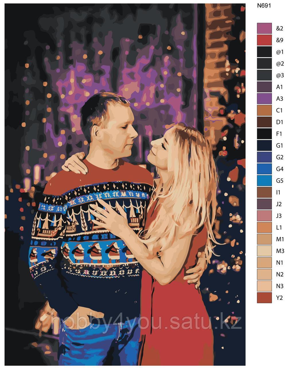 Картина по номерам красками 40х40см по фото на деревянном подрамнике