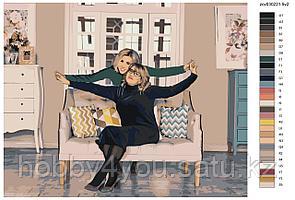 Картина по номерам красками 40х50см по фото на деревянном подрамнике