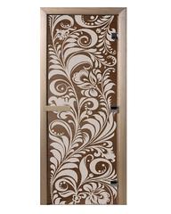 Дверь «Luxury» – Золотая Хохлома – Бронза (190*70)