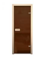 Дверь для сауны 690*1890 (матовое бронзовое)
