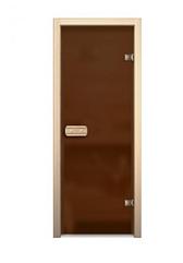 Дверь для сауны 690*1890 (матовое – бронзовое)