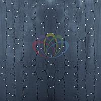 LED гирлянда Дождь - 2х6 метров, 1140 лампочек, белый цвет, светит постоянно