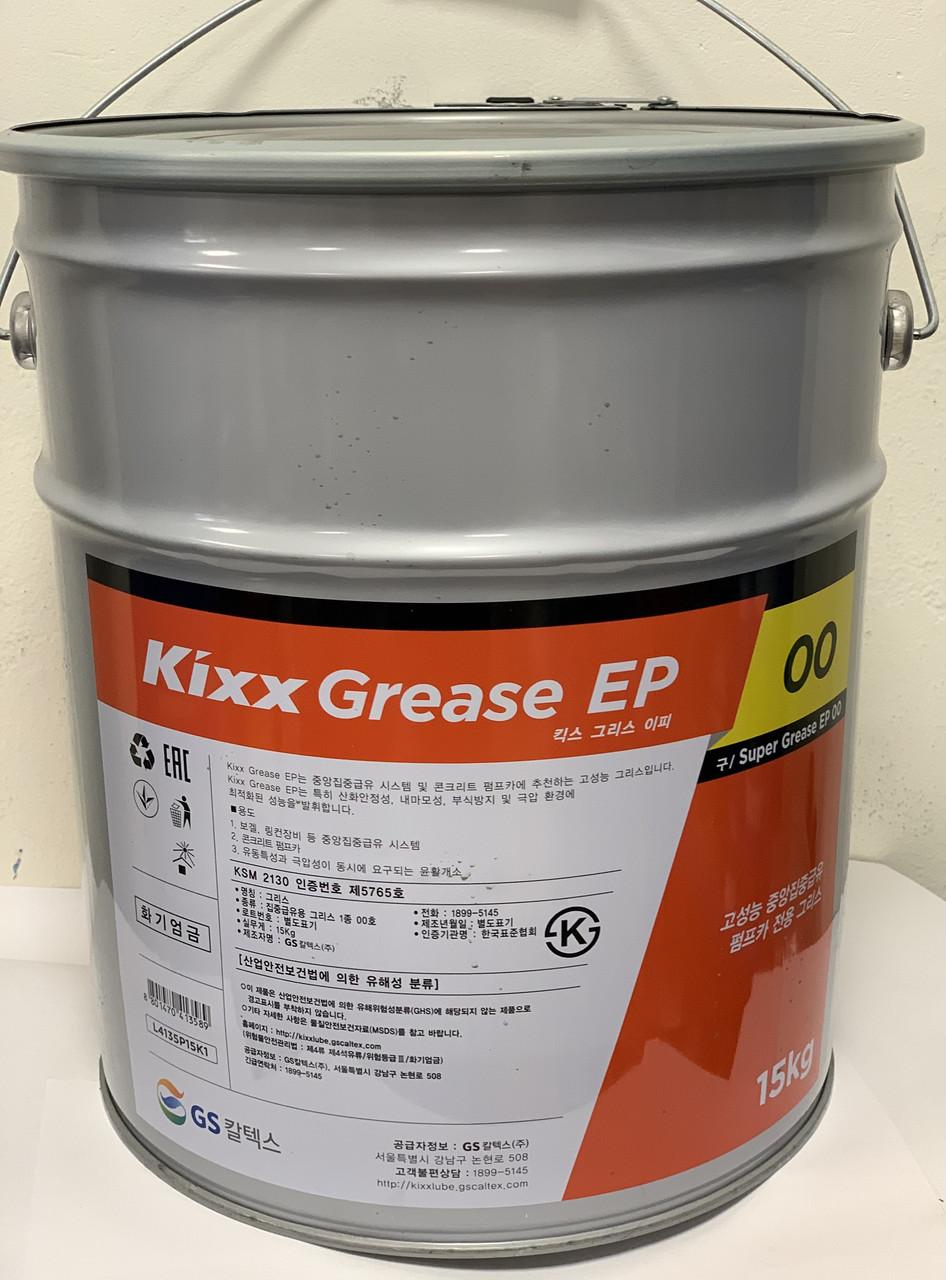 Полужидкая смазка Kixx Grease EP-00  для централизованных систем 15 кг