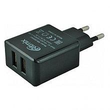 RITMIX RM-2025AC Зарядное устройство сетевое 2 USB, черный