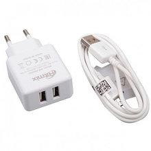 RITMIX RM-2095AC Зарядное устройство сетевое 2 А, 2 USB, белый