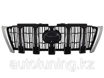 Решетка радиатора черная на Land Cruiser Prado 150 2014-2017 рестайлинг