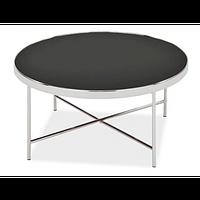 Журнальный стол SIGNAL  GINA B черный/хром 82/40