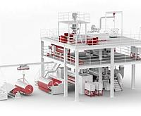S/SX Оборудование для производства нетканых материал спанбонд для строительстве