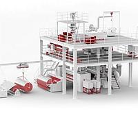 S/SX Оборудование для производства нетканых материал спанбонд для пакет и сумки
