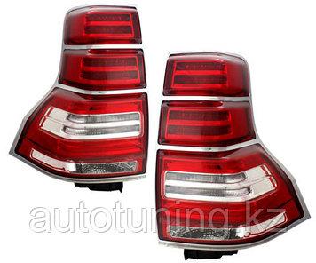 Светодиодные фонари с хром окантовкой на Land Cruiser Prado 150 2009-2017 г.