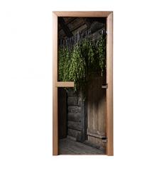Дверь из стекла с фотопечатью Веники