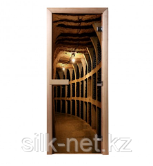 Дверь из стекла с фотопечатью Винный погреб