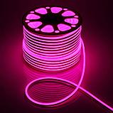 Гибкий неон сечение16х8 мм. 220 в. плитка SMD 3528 холодный неон, флекс неон. Flex LED Neon  220 вольт., фото 7