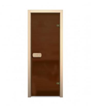 Матовая дверь для бани и сауны стеклянная 190*70 см
