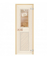 Стеклянная дверь С легким паром