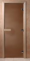 Стеклянная дверь для бани Теплая ночь 190*70