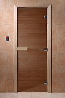 Стеклянная дверь для бани Теплый день 170*70
