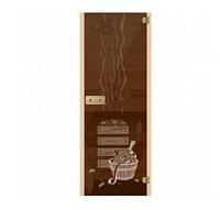 Стеклянная дверь для бани Банька