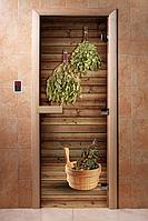 Стеклянная Дверь для бани с Фотопечатью (190*70)