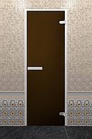 Стеклянная дверь Хамам Лайт «Бронза»
