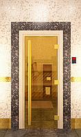 Стекялянная дверь для бани Престиж золотая (190*70)