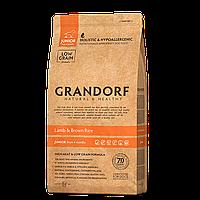 579034 GRANDORF Junior, сухой корм для юниоров, ягнёнок с рисом, уп.3 кг.