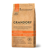 578129 GRANDORF Junior, сухой корм для юниоров, ягнёнок с рисом, уп.12 кг.