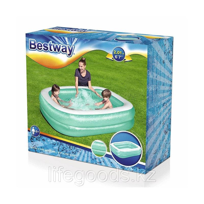Детский надувной бассейн прямоугольный 201х150х51 см, Bestway 54005 - фото 4