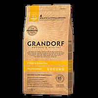 588036 GRANDORF Mini Adult 4 Meat, сухой корм для собак мини пород, мясное ассорти с рисом, уп.3 кг.
