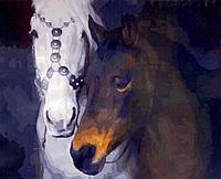 """Картина по номерам """"Лошади"""" 50*40"""