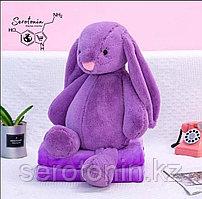 Плед - мягкая игрушка Заяц 40 см