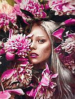 """Картина по номерам """"Девушка в цветах"""" 50*40"""