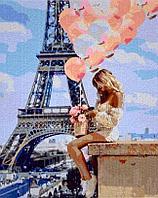 "Картина по номерам ""Девушка с шариками"" 50*40"