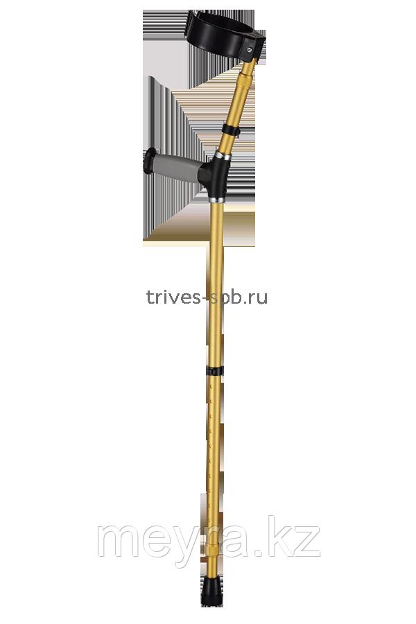 Костыли под локоть, с двойной регулировкой высоты NOVA  TRIVES (Россия), ( на рост от 150 до 200 см)