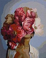 "Картина по номерам ""Девушка с цветами"" 50*40"