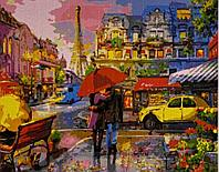 """Картина по номерам """"Любовь в Париже"""" 50*40"""
