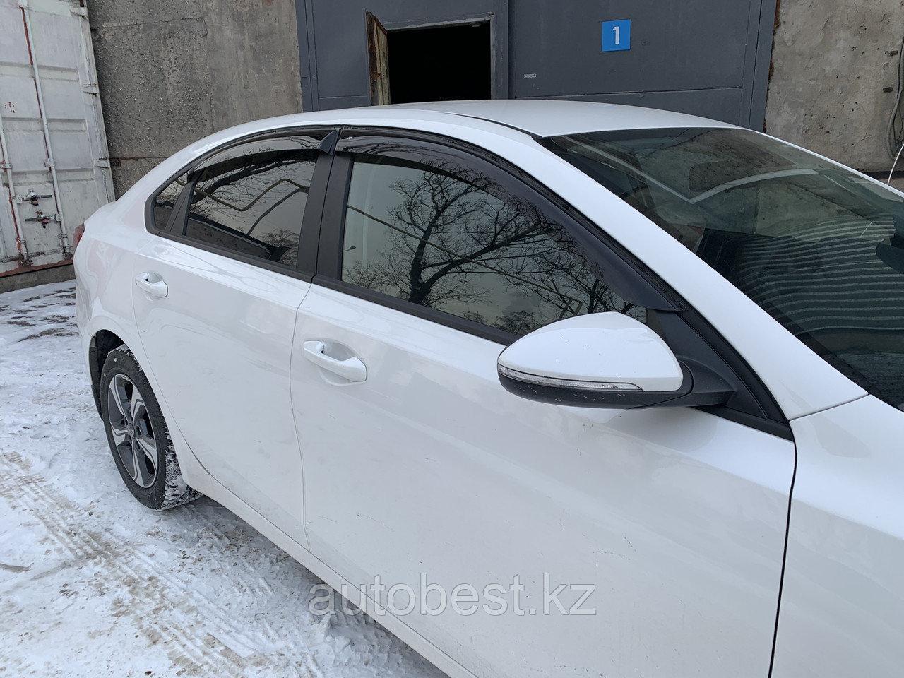 Ветровики Kia Cerato 2018 2019 2020 2021 КИА Церато Серато дефлектор на окна ветровик