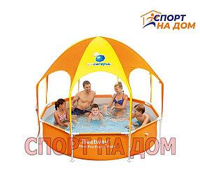 Каркасный бассейн с навесом Bestwey 56432 (244 х 51 см, на 1688 литров)