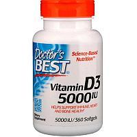 Витамин Д3 5000 МЕ, Doctors's best, 360 капсул