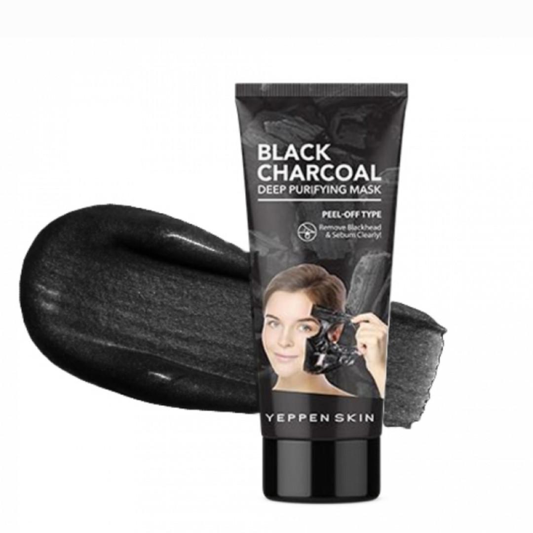 Очищающая маска-пленка с экстрактом древесного угля Yeppen Skin Black Charcoal  Mask Peel-off Type 100 gr.