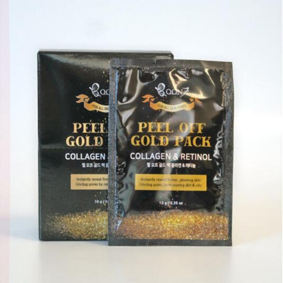BOON7 Peel Off Gold Pack Collagen$Retinol Золотая маска-пленка «КОЛЛАГЕН и РЕТИНОЛ» 1 шт *10гр