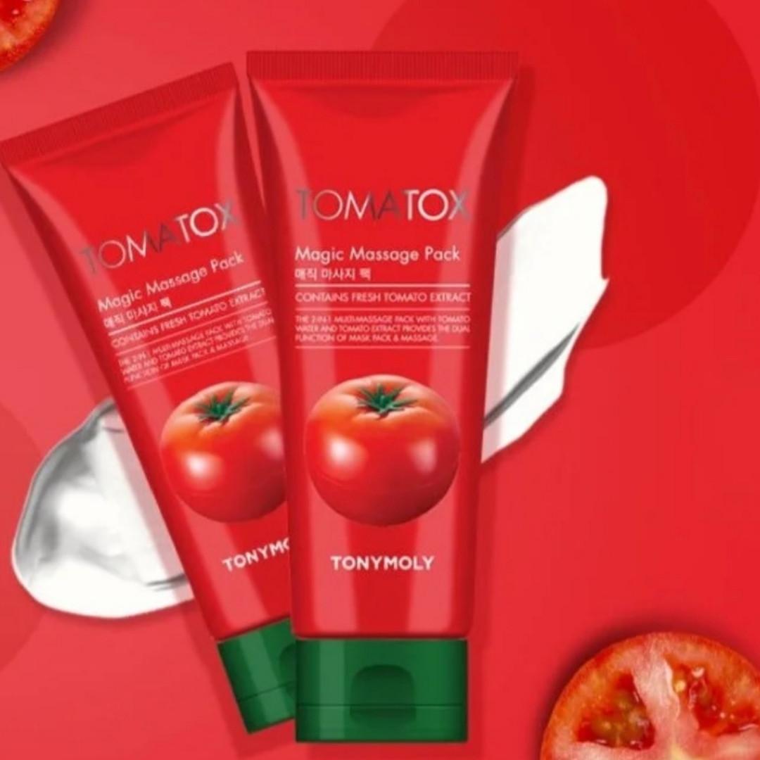 Осветляющая маска для лица с томатом tony moly tomatox magic massage pack Новая Упаковка Больше объем 120мл